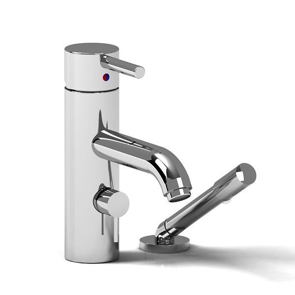 Riobel CS 2-piece deck mount faucet with hand shower- CS02C
