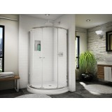 Fleurco Banyo EAX324-11-40A  Amalfi Arc 4 semi-frameless arc sliding door
