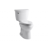 Cimarron®Comfort Height® two-piece elongated 1.28 gpf toilet with Class Five® flushing technology and left-hand trip lever- K-3609