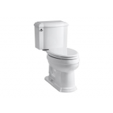 Devonshire® Comfort Height® two piece elongated 1.28 gpf toilet- K-3837-0