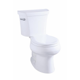 Wellworth® two-piece round-front 1.28 gpf toilet with Class Five® flush technology - K-3997-0
